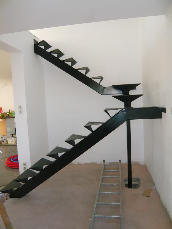 Escalier 2 quarts tournants